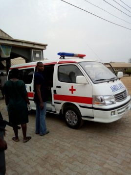 An ambulance which carried the late Air Force Woman Solape Oladipupo