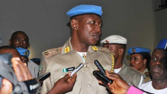 File: Dickson Akor, Peace Corp commander