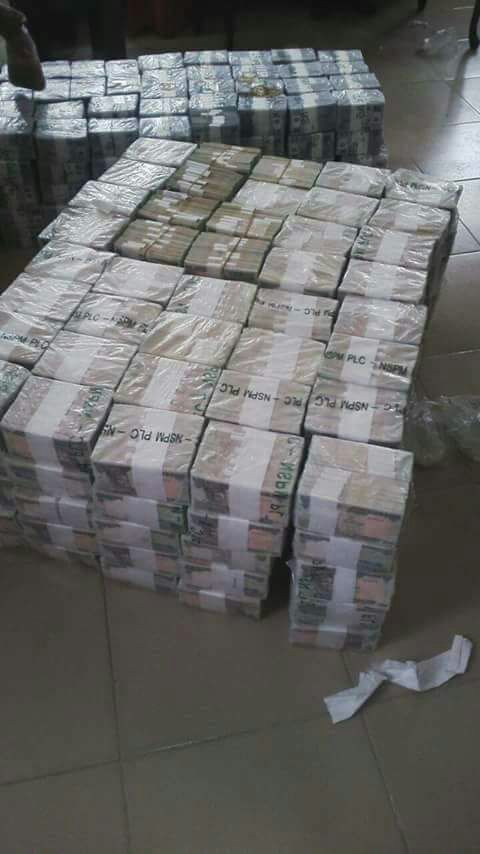 EFCC find a stack of cash at Kaduna Airport on March 14, 2017.