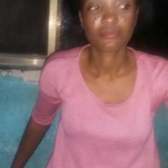 Mrs. Toyin Adeyeye, brutalised by police in Ekiti State  