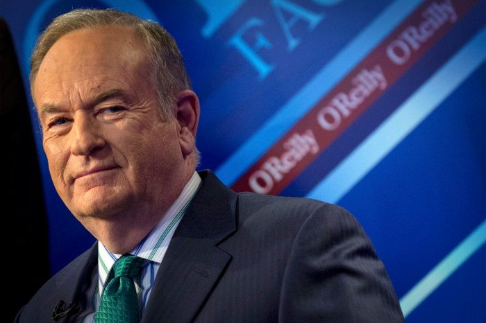 Fox News Channel host Bill O'Reilly
