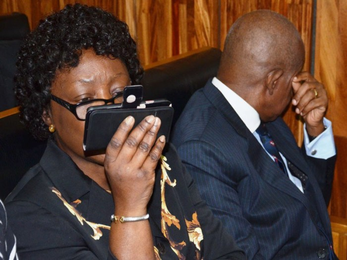 Justice Adeniyi Ademola and his wife, Olabowale pictured in