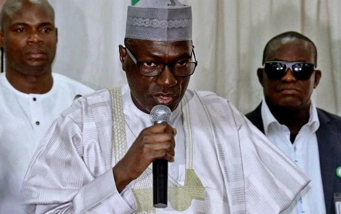 Senator Ahmed Makarfi, the national caretaker chairman of the People's Democratic Party, PDP Jonathan