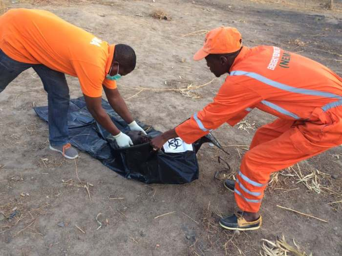 Emergency workers clear the scene of a suicide bomb attack in University of Maiduguri on Saturday, May 13, 2017 | PR Nigeria