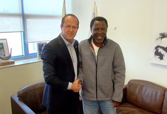 TB Joshua With Mayor Of Jerusalem Nir Barkat in Israel