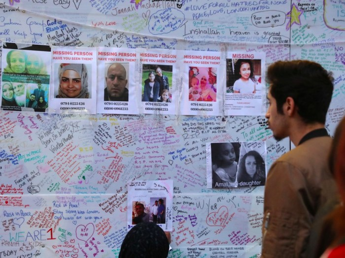 Some missing Grenfell Tower fire victims presumed dead
