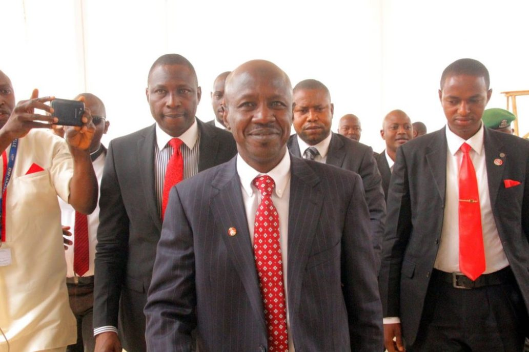 Ibrahim Magu, the chairman of the Economic and Financial Crimes Commission, EFCC