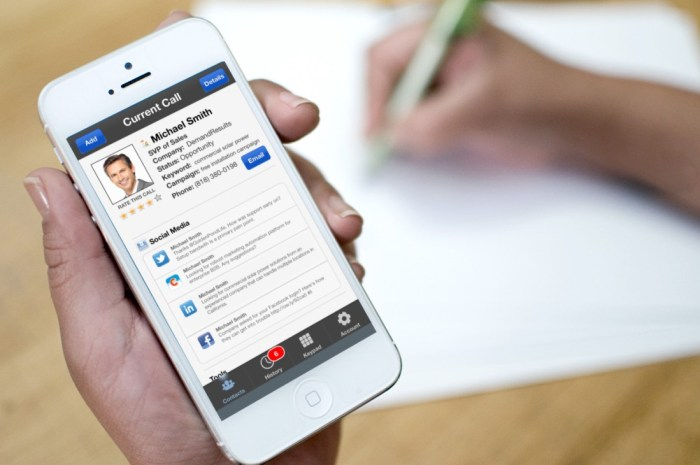 Mobile business CRM mobile app