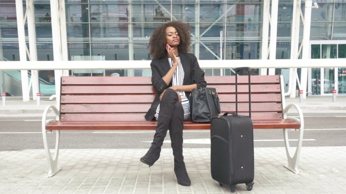 airport airplane travel woman