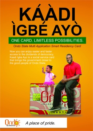 A promotional poster for Kaadi Igbe Ayo in Ondo State