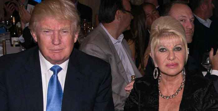 Mr Trump and Ivana Trump divorced in 1990 Getty