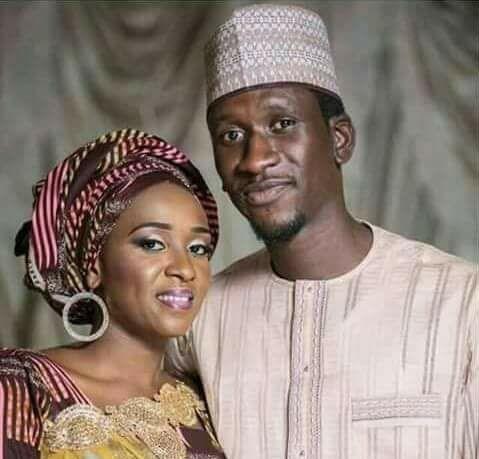 Maryam Sanda and her late husband, Haliru Bello