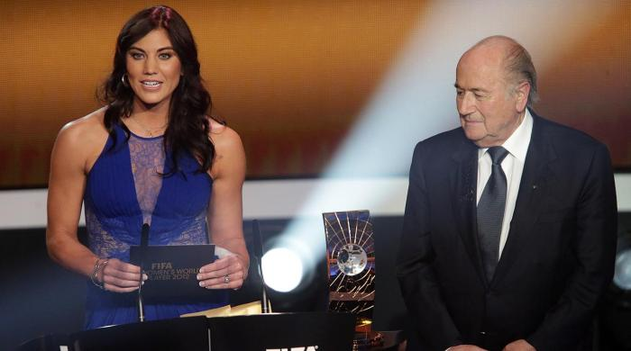 Sepp Blatter, Hope Solo