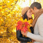 win woman Romantic couple kiss man