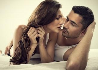 diseases women hear Romantic couple kiss man