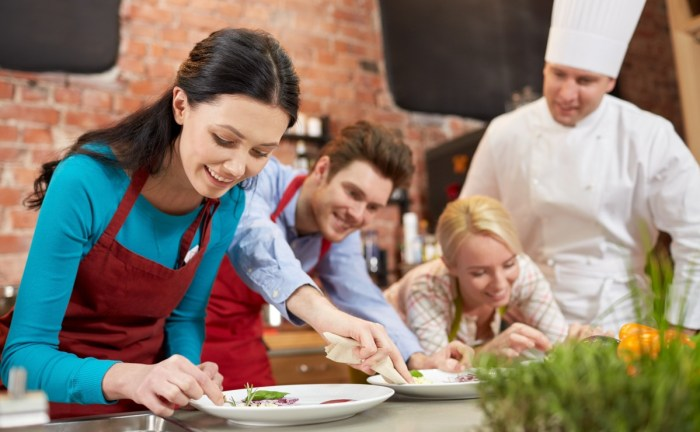 couple love cooking kitchen