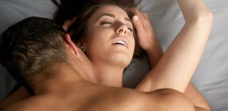 women couple bed naked man