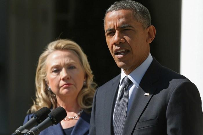 US President Barack Obama and Secretary of State Hillary Clinton