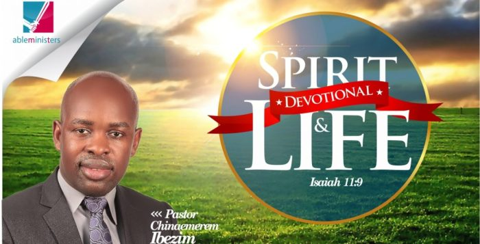 Chinaemerem Ibezim, Chinaemerem Ibezim devotional, Spirit and Life Devotional