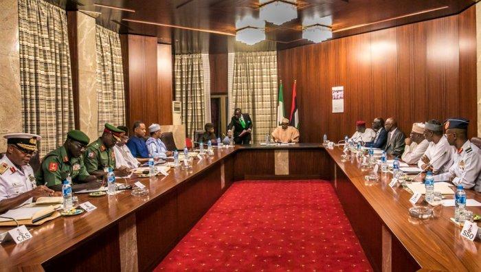 Muhammadu Buhari, Security meeting