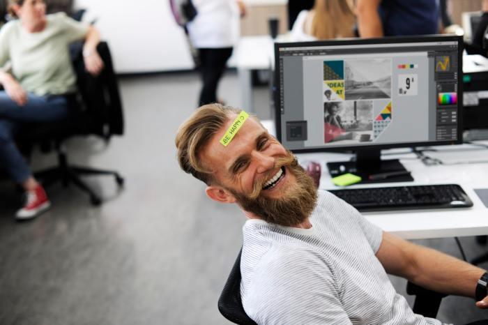 world man office workspace workaholics