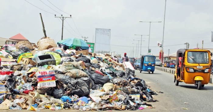 An uncleared heap of refuse on a street | NAN Photo