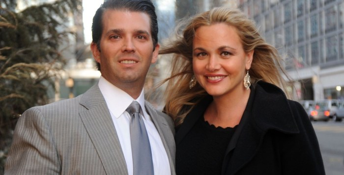 Donald Trump Jr. and his wife Vanessa Trump