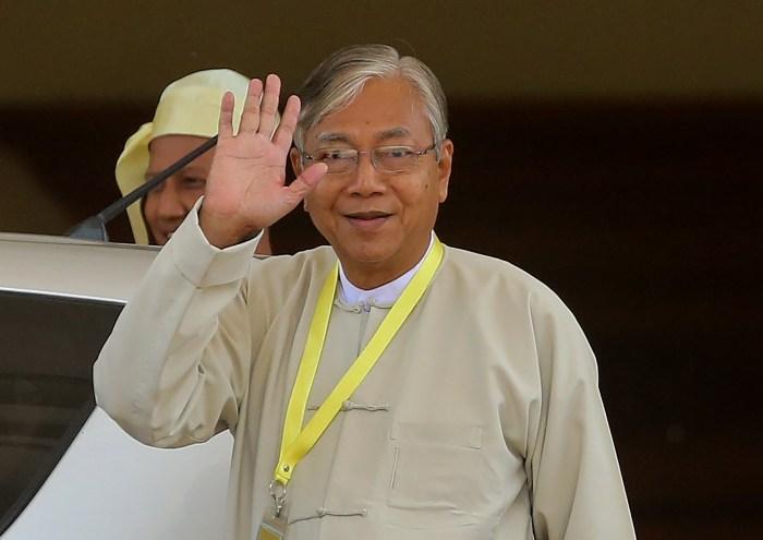 Htin Kyaw resigned as president of Myanmar effective immediately this morning,