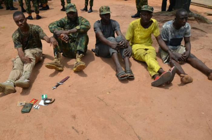 Army Parades 2 Dismissed Soldiers, 5 Others For Impersonating Military Personnel