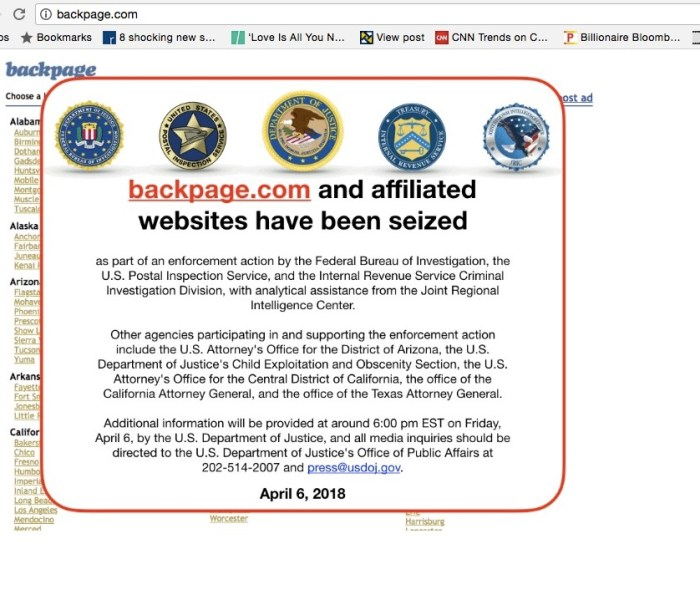 U.S. Authorities Close Down Sex Trafficking Website, BackPage.com