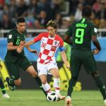 Super Eagles Croatia's midfielder Luka Modric (C) and Nigeria's defender Leon Balogun vie during the Russia 2018 World Cup Group D football match between Croatia and Nigeria at the Kaliningrad Stadium in Kaliningrad on June 16, 2018. OZAN KOSE / AFP
