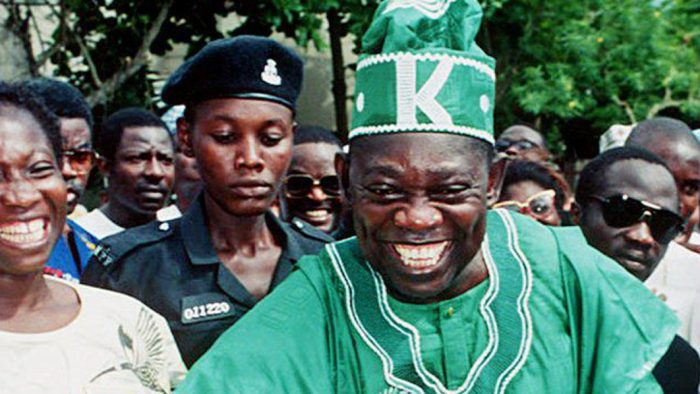 Chief MKO Abiola, the presumed winner of the 1993 Presidential elections of June 12