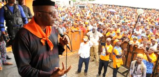 Former Governor Olusegun Mimiko rejoins Labour Party admist fanfare in Ondo Town on Thursday, June 14, 2018