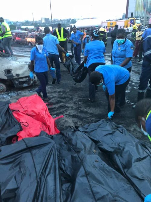 Lagos: 8 Families Take DNA Test To Identify Otedola Bridge Fire Victims