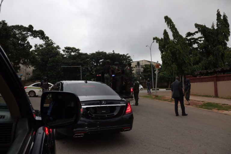 Operatives of Nigeria's secret police, the State Security Services, SSS, also known as DSS, lay siege on the residence of Ike Ekweremadu, the deputy president of the Nigerian Senate on Tuesday, July 24, 2018