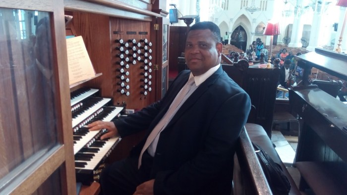 Professor Godwin Sadoh pictured at the Cathedral Church of Christ in Lagos
