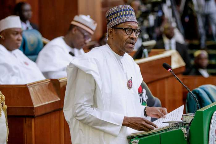 President Buhari: reads his budget speech, scolds heckling lawmakers to be decorous on Wednesday, December 19, 2018 | State House Photo