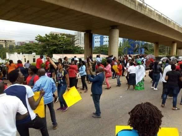 Staff Of News Agency Of Nigeria Protest Non-Payment Of Allowances (PHOTOS)