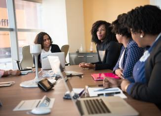 starting your first business business team office boardroom business meeting women businesswomen