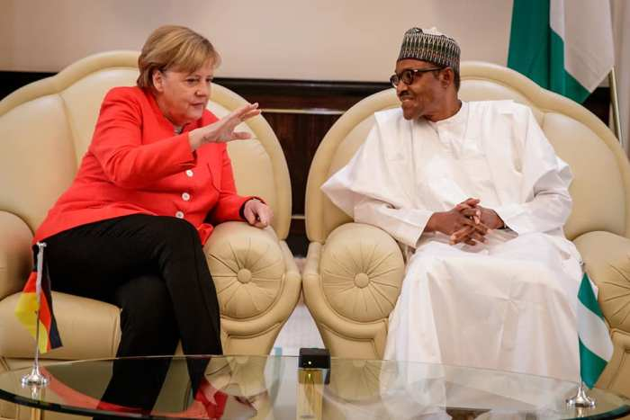 President Buhari receives in Official Visit German Chancellor Angela Merkel in State House on 31st Aug 2018