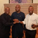Presidential Aspirants in the PACT Alliance from left: Fela Durotoye, a motivational speaker, Kingsley Mogholu, a former CBN governor and Omoyele Sowore, publisher of Sahara Reporters