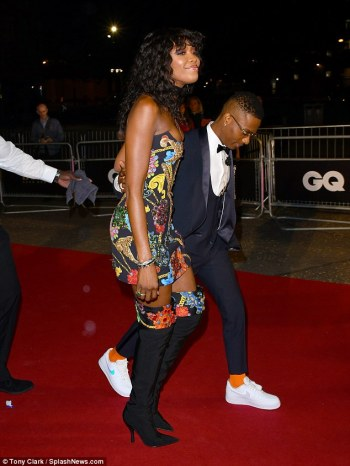 Naomi Campbell made sure she remained in the spotlight as she arrived with Nigerian Singer, Wizkid fashionably late to the 21st annual GQ Men Of The Year Awards 2018, London, on Wednesday, Sep 5, 2018 | Tony Clark/Splash News