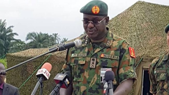 The Chief of Army Staff, Lieutenant General Tukur Yusuf Buratai bandits