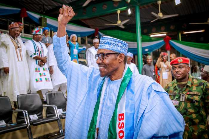 President Buhari attends APC Presidential National Convention at Eagles Square, Abuja on 6th Oct 2018