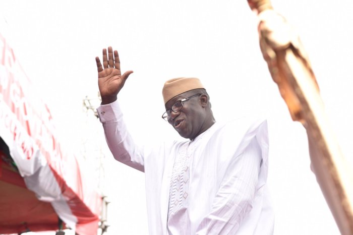 Governor Kayode Fayemi at his inauguration on Tuesday, October 16, 2018