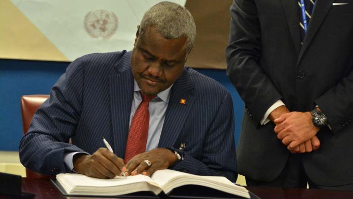 Moussa Mahamat, AU, INEC, Mahmood Yakubu
