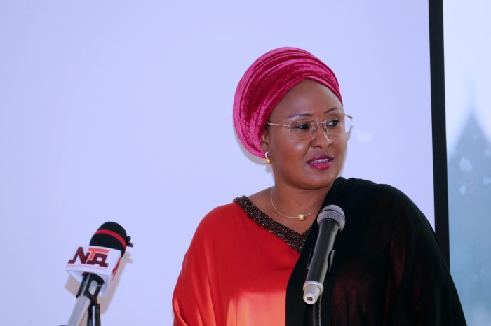 Aisha Buhari, wife of the Nigerian President Muhammadu Buhari