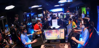 computer games tournaments Professional gamers train at an esports center in Shanghai | Pengta Network Technology