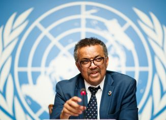 New World Health Organization (WHO) Chief Dr. Tedros Adhanom Ghebreyesus from Ethiopia.   WHO/Twitter/Reuters