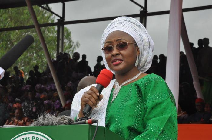 Aisha Buhari, wife of the Nigerian President Muhammadu Buhari